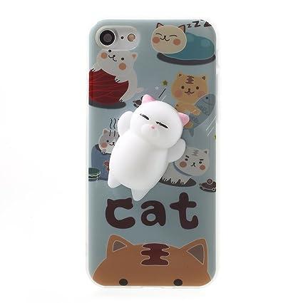 f657ca26a4 iphone 4/4S Case,3D Poke Squishy Cat Seal Panda Polar Bear Squeeze Stretch
