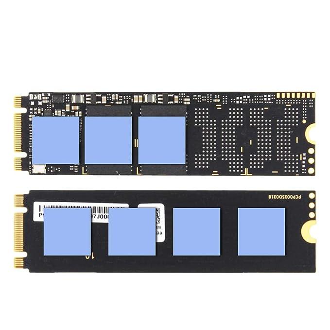 NVME NGFF M.2 Heatsink 2280 SSD Copper Metal Sheet Thermal Conductivity Silicone Wafer Cooling Fan Heatsink MANGKE