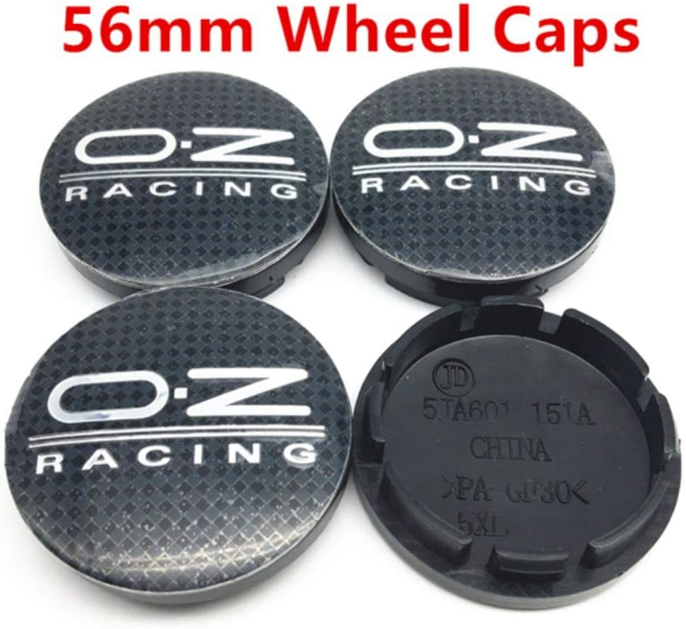 4pcs 60mm 56mm Car Wheel Center Hub Caps Badge Emblem Logo Sticker For O.Z OZ RACING Rim Caps Cover Car Styling Accessories,56mm Black Red