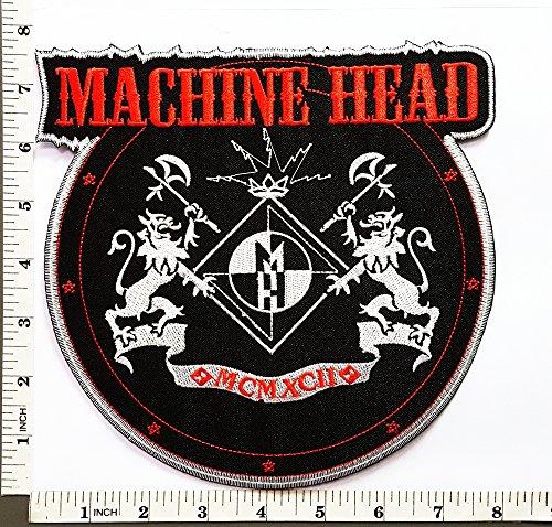Big Jumbo Large Big Huge Jumbo machine head Music Band Heavy Metal Punk Rock patch Jacket T-shirt Sew Iron on Patch Badge Embroidery