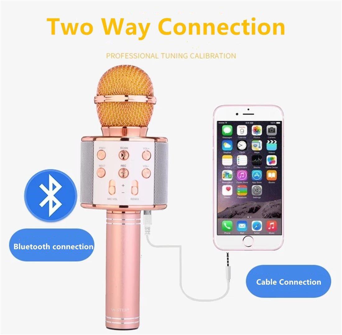 Karaoke Microphone Wireless with Bluetooth Speaker for