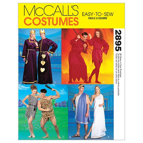 McCall's Patterns M2895 Misses', Men's and Teen Boys' Tunic Costumes -