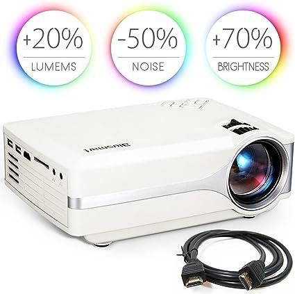 Proyector, Blusmart LED-9 Home Video Proyector, Proyector de cine ...