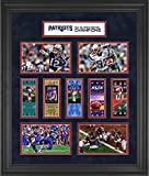 """New England Patriots Framed 23"""" x 27"""" 5-Time Super Bowl Champion Ticket Collage - Fanatics Authentic Certified"""