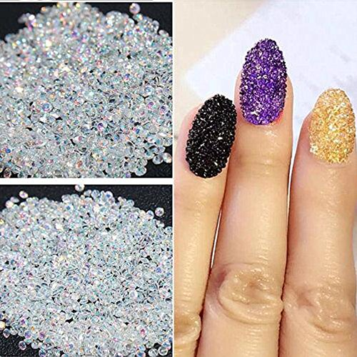 Micro Diamond DIY Rhinestones Crystal Non Flat Back Hotfix Rhinestones Need Glue Nail Art Decoration 02 Clear AB