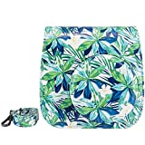 Elvam Tropical Forest PU Leather Fujifilm Instax Mini 9 / Mini 8 / Mini 8+ Instant Film Camera Case Bag w/ a Removable Bag Strap