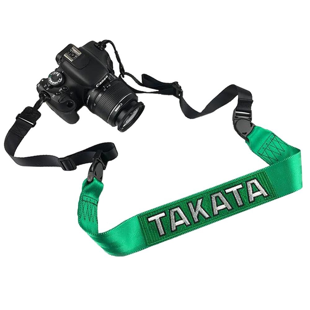 Green Takata Racing Camera Strap JDM