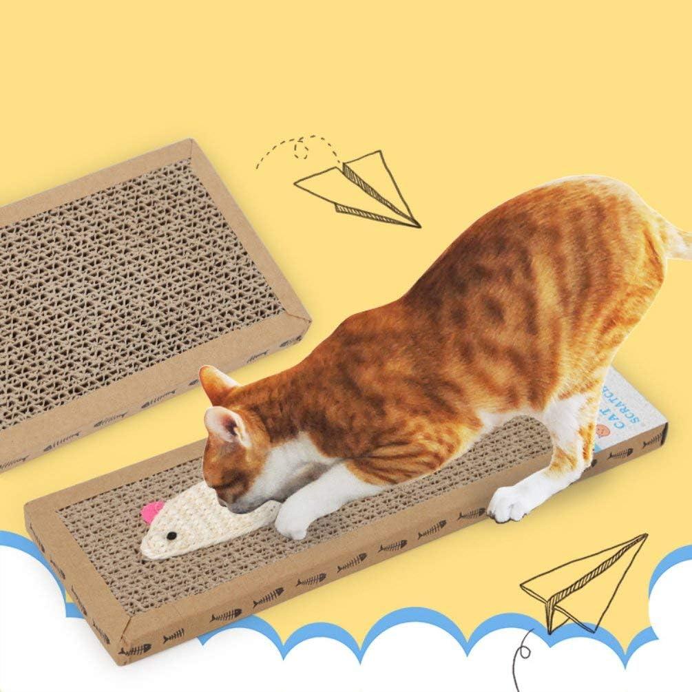 Hehilark Funny Cat Griffes Sisal Bait Plat Chat Scratch Board Ondul/é Chat Jouet Fournitures pour Animaux