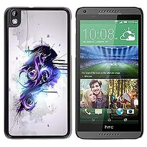 "For HTC DESIRE 816 , S-type Púrpura y Negro Resumen de graffiti"" - Arte & diseño plástico duro Fundas Cover Cubre Hard Case Cover"