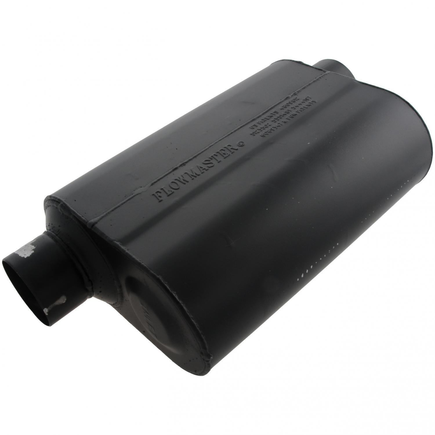 Harley manages to fit all the complex electronics and emissions gear - Amazon Com Flowmaster 953049 Super 40 Muffler 3 00 Offset In 3 00 Same Side Out Aggressive Sound Automotive