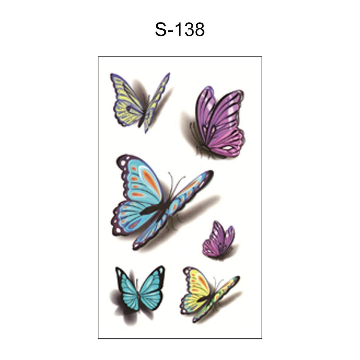 Noradtjcca Waterproof Simulation Temporary Tattoo Stickers Fashion Fake Tattoos Body Art Sticker for Adult Men Women Kids 105x60