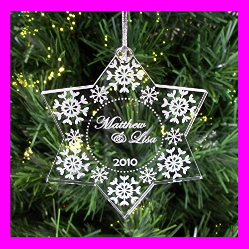 Personalized Custom Engraved Couple's First Christmas Snowflake ()
