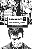 hotel books poster - Norman Bates Art Coloring Book: Intelligent Serial Killer and Hotel Horror, Mother Issues and Hitchockian World or Darkness Inspired Adult Coloring Book (Norman Bates Coloring Books)