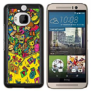 GIFT CHOICE / Teléfono Estuche protector Duro Cáscara Funda Cubierta Caso / Hard Case for HTC One M9Plus M9+ M9 Plus // Claw Game Machine Toy Monsters //