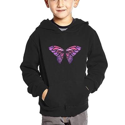 SKO8S Hoodies Butterfly Baby Pullover Hoodies Long Sleeve Sweatshirt With Big Pockets