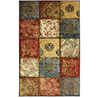 Mohawk Home Free Flow Artifact Panel Multicolor Patchwork Printed Area Rug and Dual Surface Pad Set, 76 x 10, Multicolor