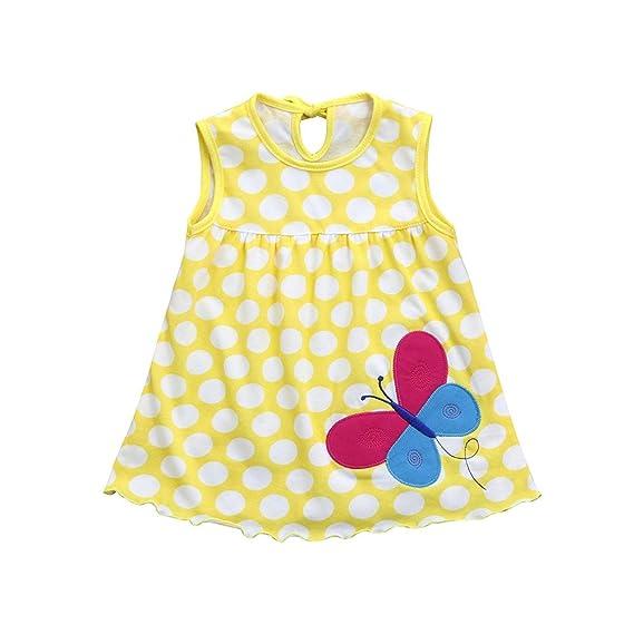 Amlaiworld Ropa bebé Niña Recien Nacido Verano Linda Camisas de Rayas de Punto para niños Vestir Camiseta Chaleco Mini Vestidos: Amazon.es: Ropa y ...