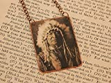 Native American necklace Sitting Bear Native American Jewelry mixed media jewelry
