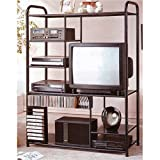 Metal Tv Shelf with Cd Cases Dvd Player Racks By H.P.P
