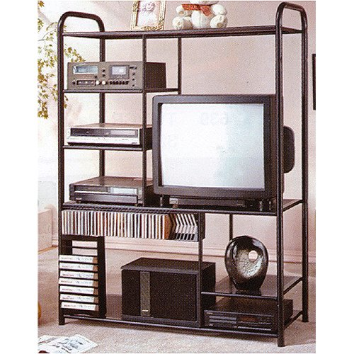 Metal Tv Shelf with Cd Cases Dvd Player Racks By H.P.P ()