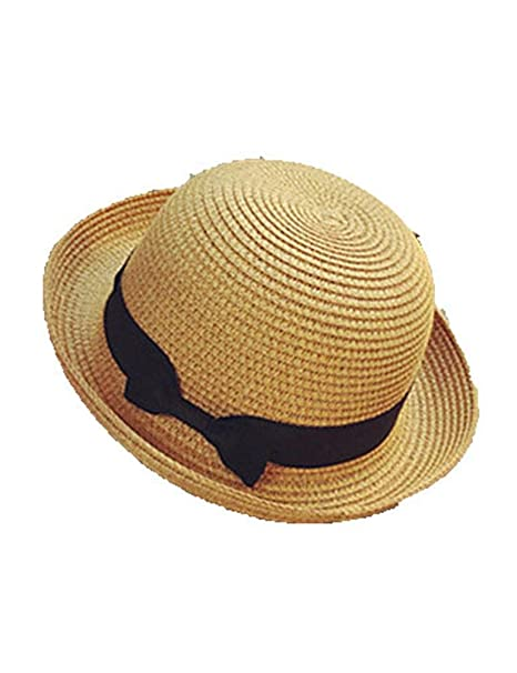 Comfot Mujer Verano Otoño Bonito Casual Poliéster Hilo Sombrero Playero  Sombrero de Paja Sombrero para el Sol e8e1126f1c9
