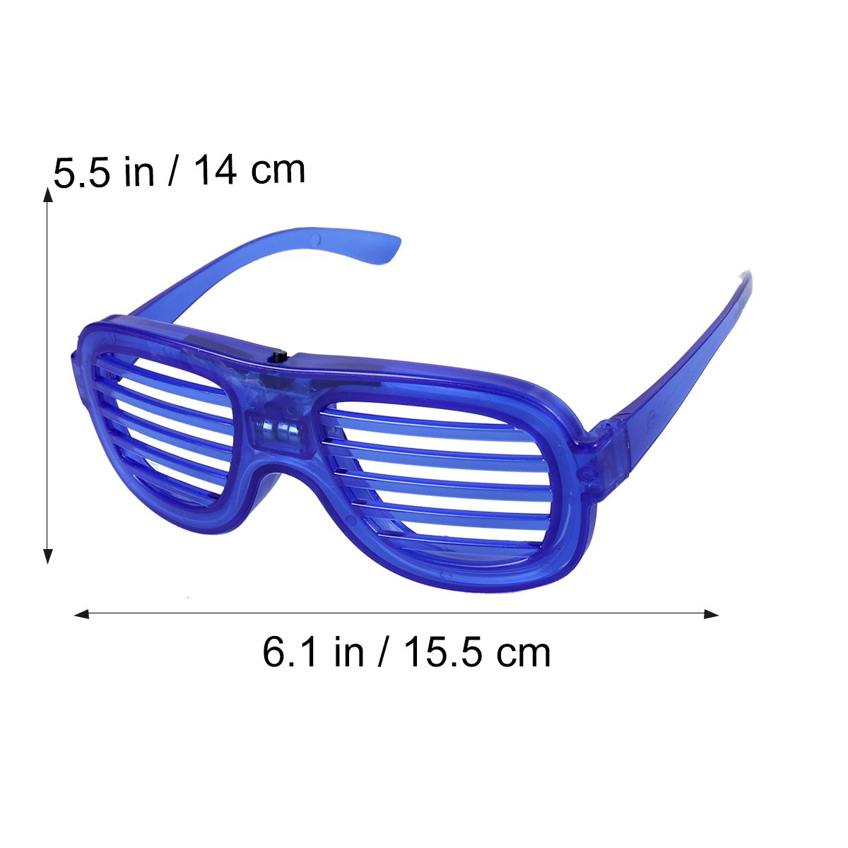 3e04dbd49f0 Buy OULII Fashion Eyewear Neon Slotted Shutter LED Glow Sunglasses Shades  Light up Glasses for Kids Adults Costume Party Favors (Blue) Online at Low  Prices ...