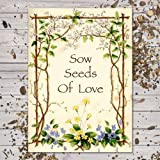 Set of 25 Butterfly Garden Seed Packet Favors (F03) ''Sow Seeds of Love''