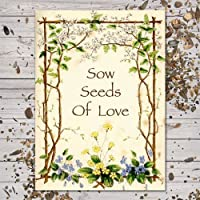 """Set of 25 Butterfly Garden Seed Packet Favors (F03) """"Sow Seeds of Love"""""""
