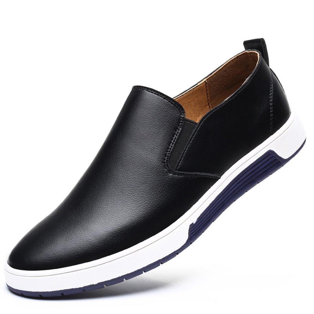 TALLA 38 EU. Hombre Zapatos de Cuero, Comodos Resbalón en Zapatos Cordones Derby Calzado Oxford para Boda Negocio Vestir