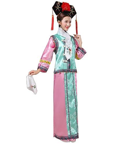 ZENGAI Dinastia Qing Ropa Disfraz Antiguo Princesa Vestido Real Palazzo Disfraces Estudio Fotografía 6 Colores Opcionales