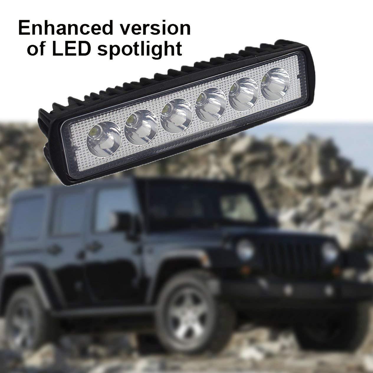 EdBerk74 18 W LED DRL Luci di lavoro per auto Luce fuoristrada impermeabile Faretto super luminoso per moto fuoristrada