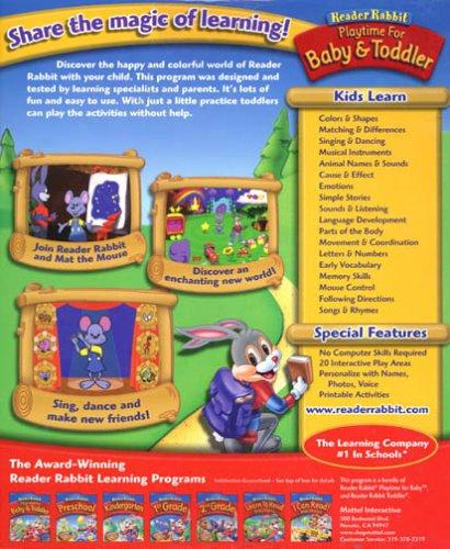 NEW Reader Rabbit Playtime For Baby & Toddler [OLD VERSION