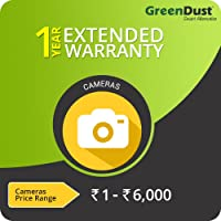 GreenDust Extended Warranty for Cameras (Rs. < 6000), 1 year-Delivery by Email
