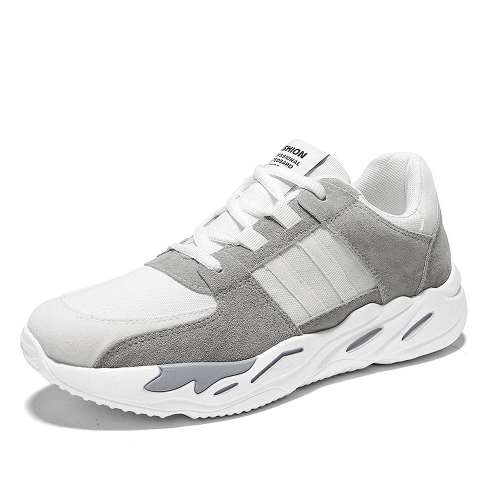 MUOU Schuhe Herren Freizeitschuhe Outdoor Sneaker Lace-Up Graffiti Wanderschuhe Spring Fashion Schuhe Sportschuhe  41 EU|Grau-Wei?