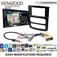 Volunteer Audio Kenwood DNX574S Double Din Radio Install Kit with GPS Navigation Apple CarPlay Android Auto Fits 2002-2005 Ram