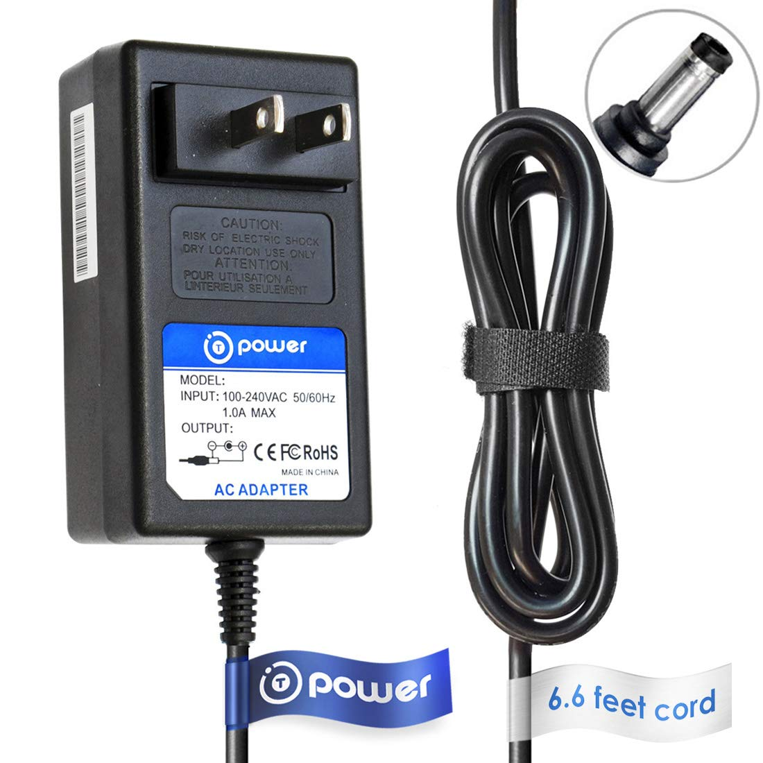 t power 6 6ft long cable ac dc adapter compatible with neat neatdesk desktop pass through scanner pc mac replacement power supply cord rh amazon com
