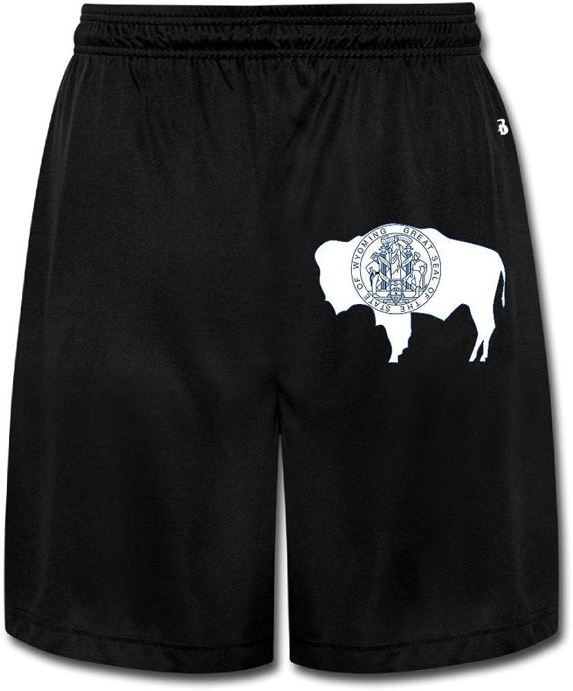 Boss-Seller Men's Unique Flag Of Wyoming Short Training Pants Black