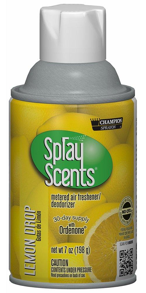 Champion 5189 Sprayon SprayScents, Lemon Drop, 7 oz Aerosol (Pack of 12)
