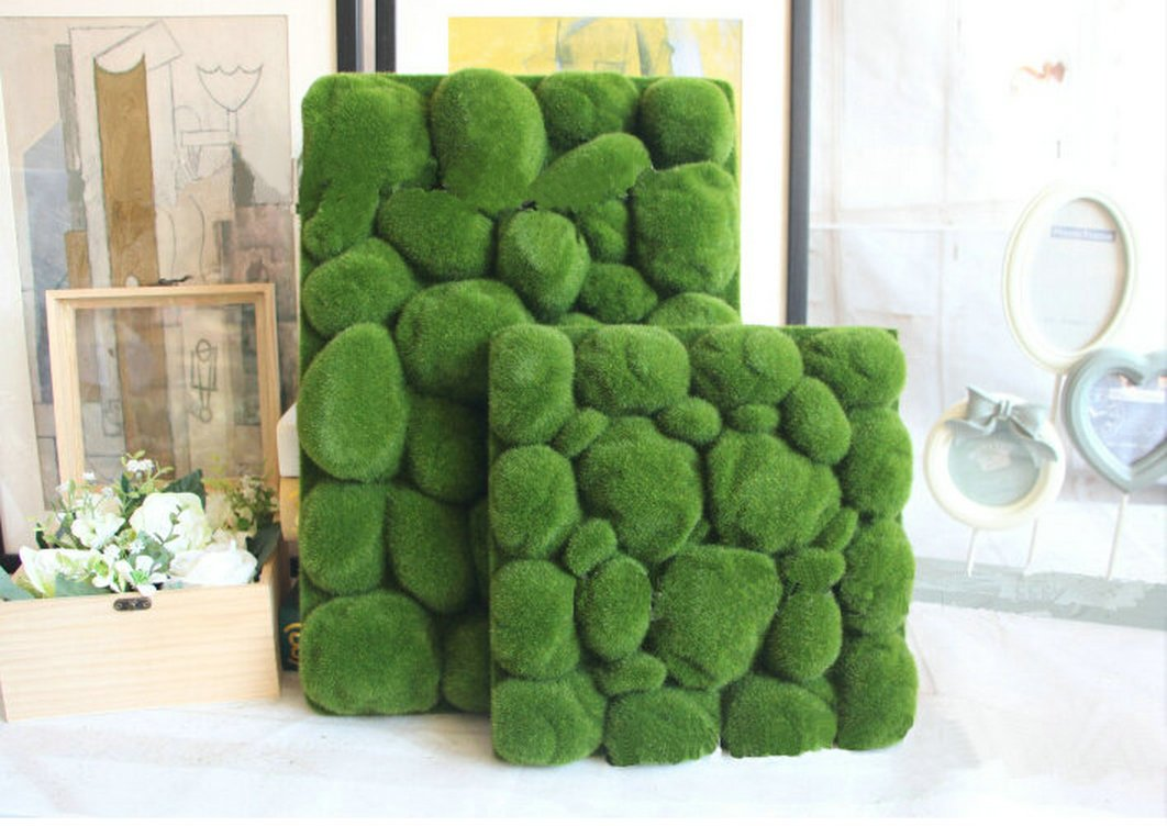 Artificial Moss Panel Faux Moss Mat Fake turf Synthetic Lawn Home Garden Craft Green Decoration (12, Light Green 3030cm) by MOSS PANELS (Image #4)