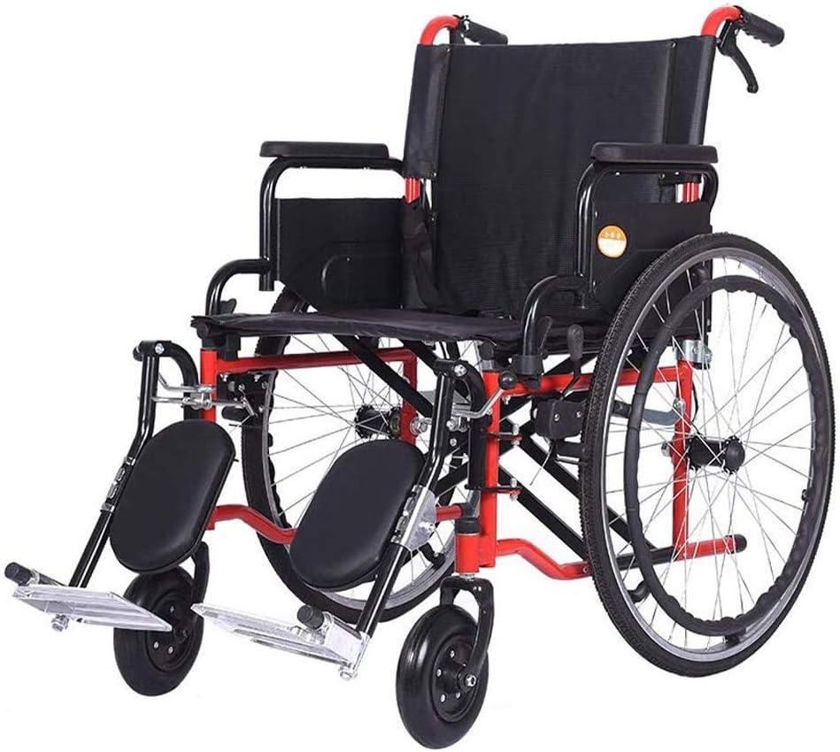 Asiento de Silla de Ruedas Anchura 20.1 Pulgadas, Doble Freno de Transporte Silla de Ruedas, Ancianos discapacitados Walker Walker Widen Silla de Ruedas para Personas obesas