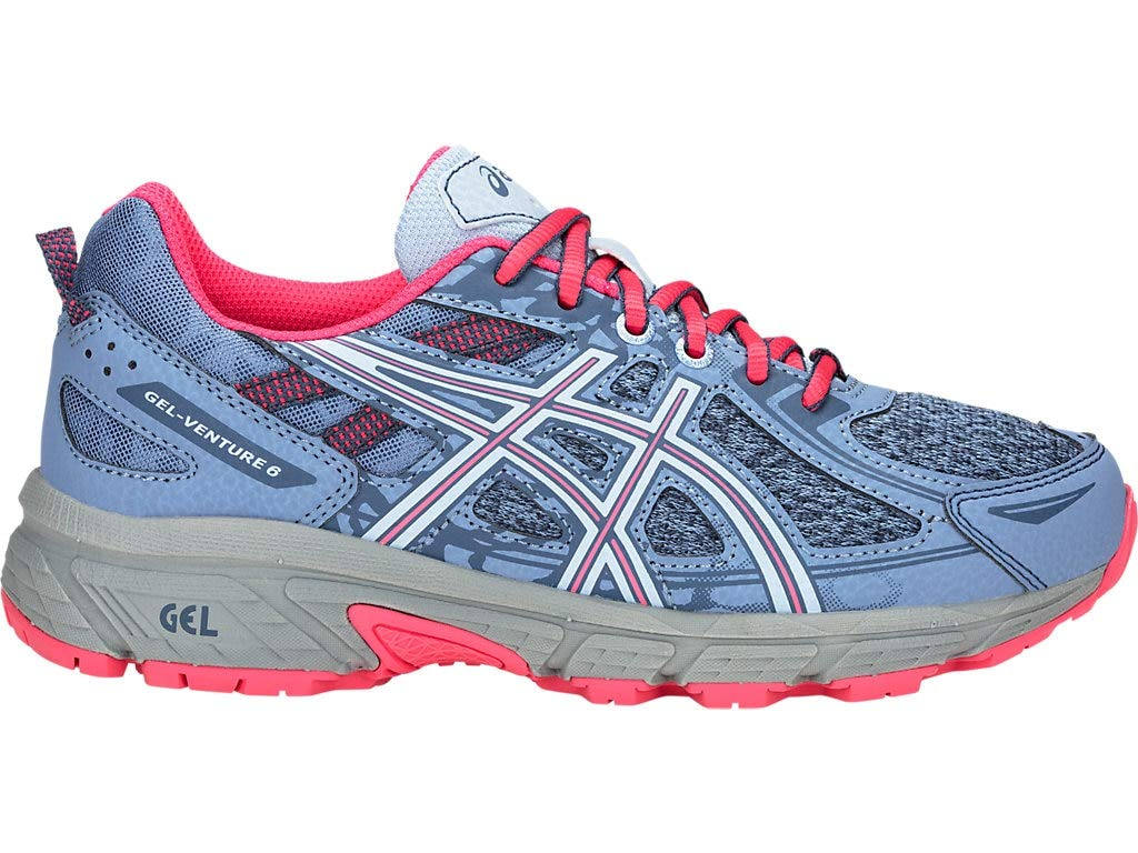 ASICS Kid's Gel-Venture 6 GS Running Shoes, 4, Blue Harmony/Pink Cameo