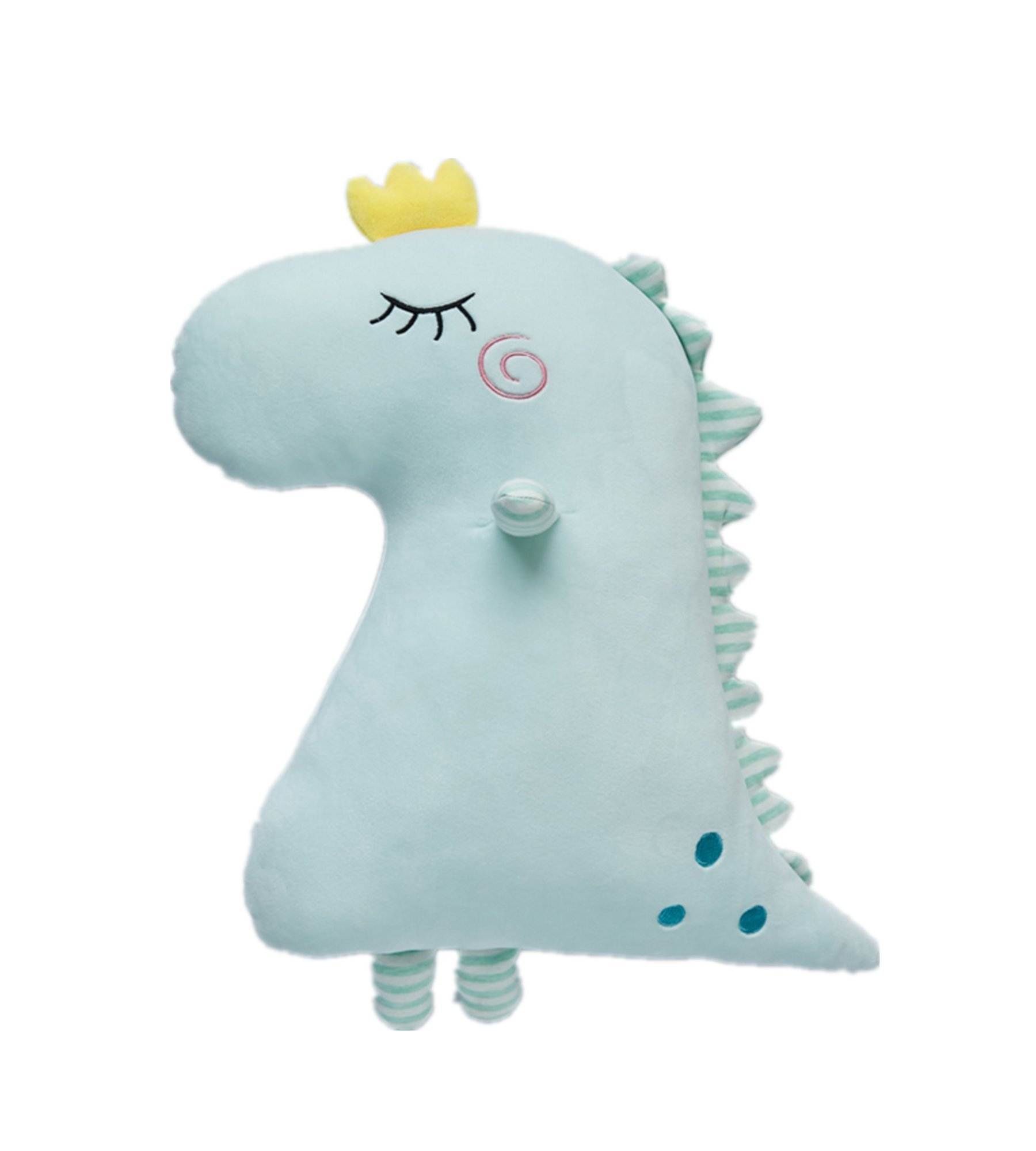 mywaxberry New Dinosaur Pillow Down Cotton Sleeping Doll Plush Toy Doll (blue)