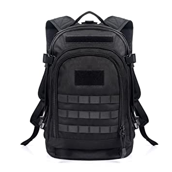 Yakeda A88051 600D Waterproof Polyester Military Backpack, Black ...
