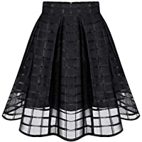 Mini Skirt Hidden Zipper High Waisted Skirts Womens Adult Pleated Bridesmaids