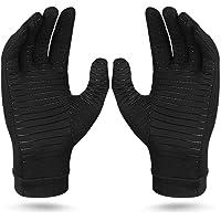 Compression Arthritis Gloves, Copper Fiber Relief Hand Arthritis Joint Pain Half&Full Finger Anti-Slip Sports Gloves for…