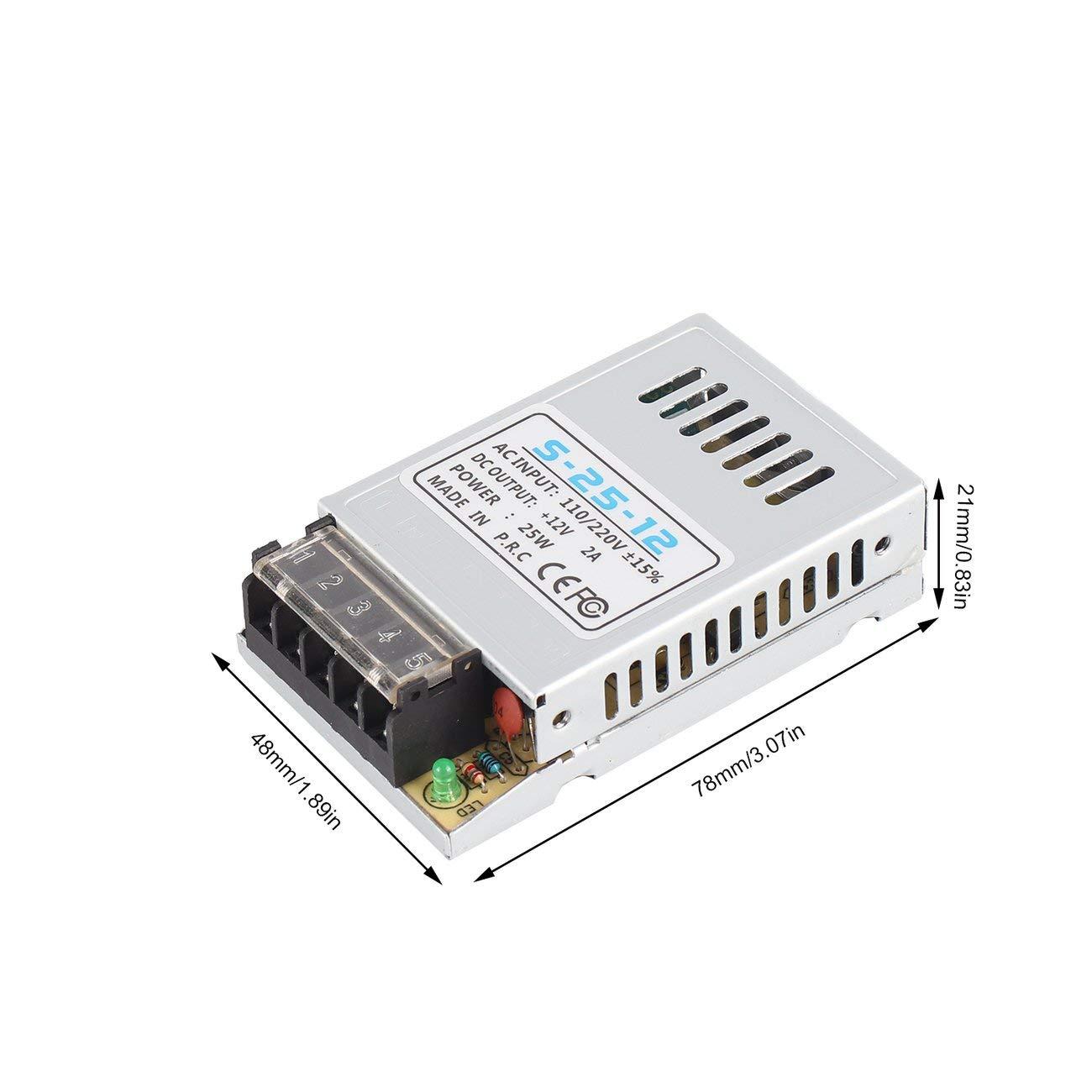 JBP-X Alimentatore di commutazione universale da CA a CC 12V 2A 24W Ingresso driver luce LED ultrasottile portatile 110 V 220 V S-24-12