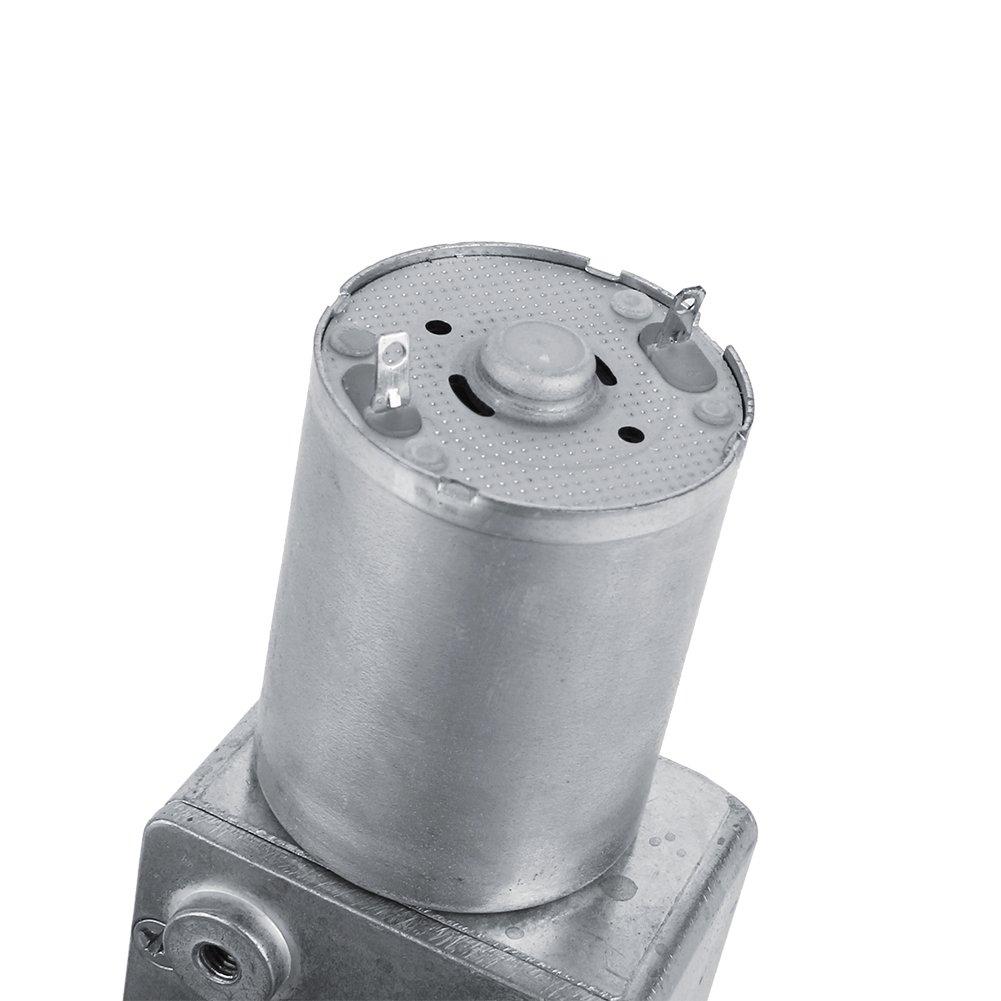 Motoriduttore DC 12V Riduzione Reversibile motore elettrico CW//CCW Motoriduttore a vite senza fine reversibile ad alta coppia 5//6//20//40//62RPM 5RPM