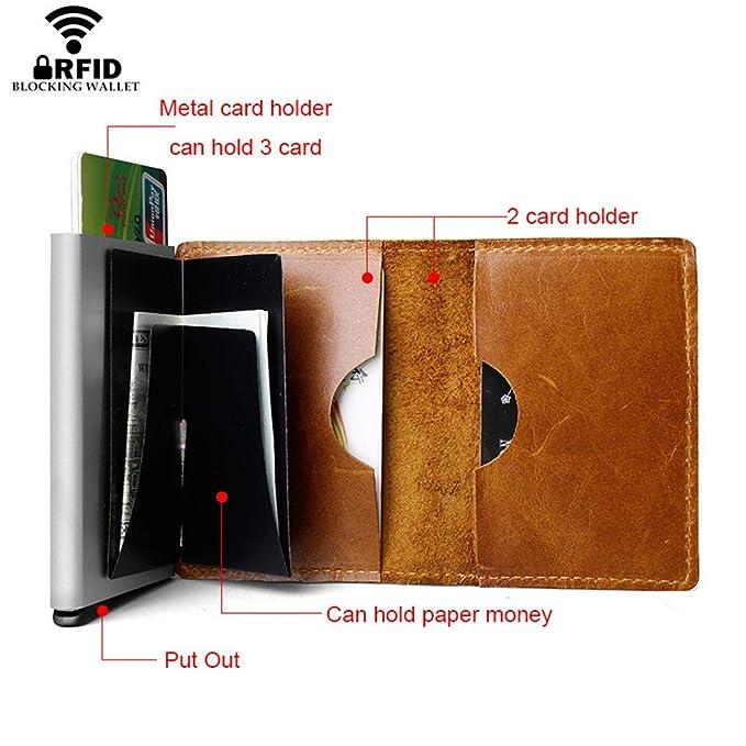 71f0bf381eba Amazon.com: SaoLangtame RFID Leather Wallet Men Credit Card ID ...