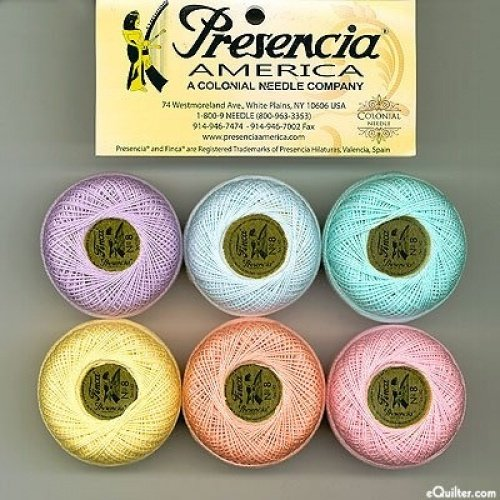 (Presencia Finca Perle Cotton Thread Sampler Pack, Size 5 (10 gram) - for sashiko, embroidery, and quilting -