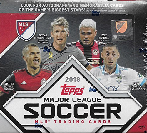 2018 Topps MLS Soccer Unopened Factory Sealed Retail Box of 24 Packs with 144 cards Total